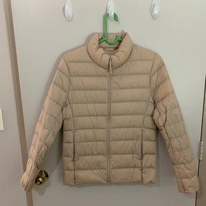 UNIQLO Puffer Jacket- Tan Sz Medium
